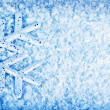 Christmas snow background, snowflake border — Stock Photo