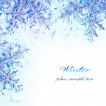 Snowflake decorative border — Stock Photo