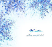 Snowflake decorative border — Stock Photo