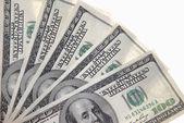 Notas de cem dólares — Fotografia Stock