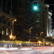Famous and typical street of Gran Via in Madrid at night - Stock Photo