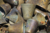 Set of rusty bells — Stock Photo