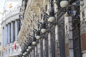 Historic buildings in the city of Madrid, Spain — Stock Photo