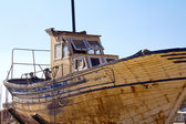 Wooden fishing boats abandoned — Foto Stock
