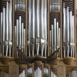 Large church organ — Stock Photo