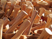 Wooden kitchen utensils crafted — Stock Photo
