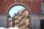 Famous Plaza Mayor Madrid Spain — Stock Photo