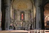 Inside a former Catholic church — Stock Photo