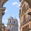 Famous Plaza Mayor Madrid Spain — Stock Photo #7869867
