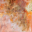 Aged weathered painted wall in red grunge tones — Stock Photo