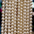 Majorca pearl necklaces hanging in rows jewellery — Stock Photo #6819663