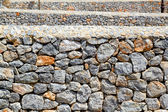 Masonry walls perspective gray limestone from Mallorca — Stock Photo