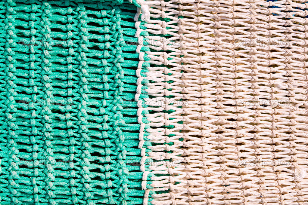 Fishing net tackle textures from Mediterranean boats — Stock Photo #6819420
