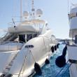 Calvia Puerto Portals Nous luxury yachts in Majorca - Stock Photo