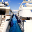 Calvia Puerto Portals Nous luxury yachts in Majorca — Stock Photo