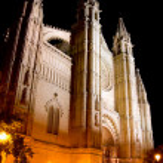 Cathedral of Palma de Mallorca La Seu night view — Stock Photo