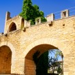 Alcudia puerta de la muralla in north Mallorca castle door — Stock Photo