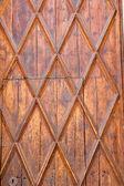 Aged golden wood door from Lonja of Palma de Majorca — Stock Photo