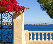 Mediterranean fence in Cala Fornells Mallorca — Stock Photo