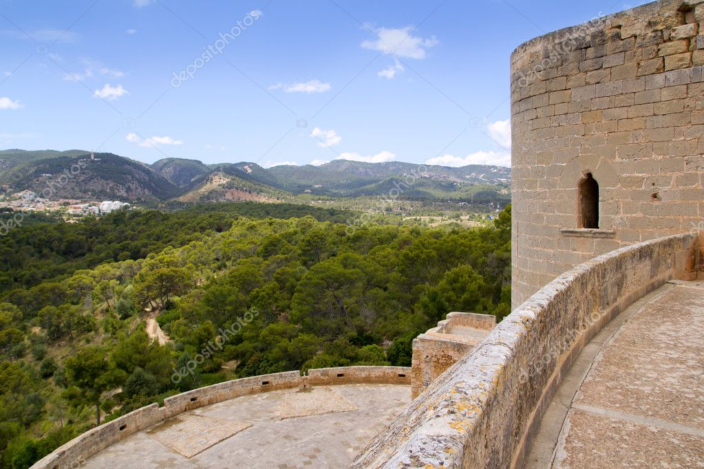Castillo de Bellver castle in Palma de Mallorca Balearic island of Spain — Stock Photo #6820182