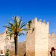 Alcudia Sant Jaume church near roman castle wall Mallorca — Stock Photo