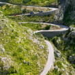 Winding road in mountain near Sacalobra in Mallorca — Stock Photo