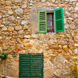 Royalty-Free Stock Photo: Majorca traditional wood windows mallorquina shutters