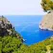 Escorca Sa Calobra beach in Mallorca balearic island — Stock Photo