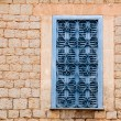 Majorca traditional wood windows mallorquina shutters — Stock Photo