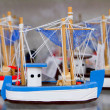Handcraft boats typical Balearic Majorca souvenir - Stock Photo