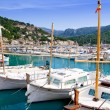 Puerto de Soller Port of Mallorca with lllaut boats — Stock Photo #6836383