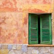 Majorca traditional wood windows mallorquina shutters — Stock Photo #6836637