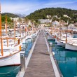 Puerto de Soller Port of Mallorca with lllaut boats — Stock Photo #6837036