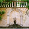 Lion stone sculpture fountain in Son Marroig at Deia — Stock fotografie