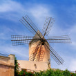Classic windmills from balearics in Palmde Majorca — Stock Photo #6837072