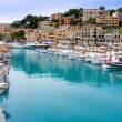 Puerto de Soller Port of Mallorca with lllaut boats — Stock Photo #6837348