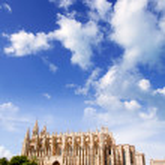 Cathedral of Majorca La seu from Palma de Mallorca — Stock Photo