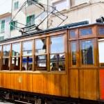 Classic wood tram train of Puerto de Soller in Mallorca — Stock Photo #6837500