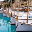 Puerto de Soller Port of Mallorca with lllaut boats — Stock Photo #6837969