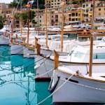Puerto de Soller Port of Mallorca with lllaut boats — Stock Photo