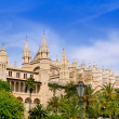 Stock Photo: Almudaina and Cathedral of Palma de Mallorca in Majorca