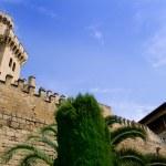 Almudaina palace in Palma de Mallorca from Majorca — Stock Photo