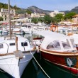 Puerto de Soller Port of Mallorca with lllaut boats — Stock Photo #6839175