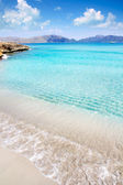 Alcudia beach in Cala San Pere from Balearic Mallorca — Stock Photo