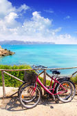 Alcudia Mallorca Playa de S Illot transparent turquoise water — Stock Photo