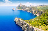 Formentor cape to Pollensa aerial sea view in Mallorca — Stock Photo