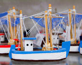 Handcraft boats typical Balearic Majorca souvenir — Stock Photo