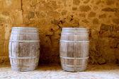 Barrels of wine built in oak wood from Spain — Stock Photo