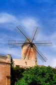 Classic windmills from balearics in Palma de Majorca — Stock Photo