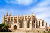 Cathedral of Majorca La seu from Palma de Mallorca — Stock Photo